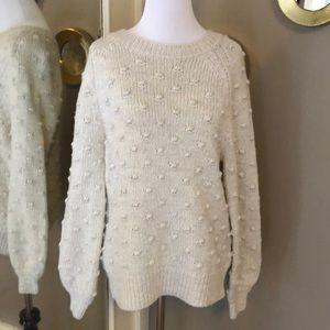 Gap Cream textured sweater EUC size XS